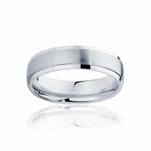 Mens White Gold Wedding Ring|Alto
