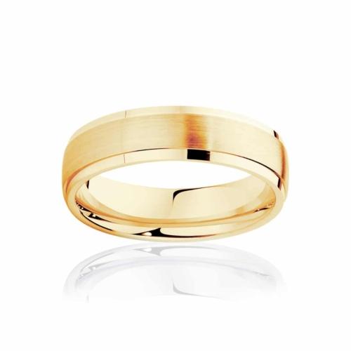 Mens Yellow Gold Wedding Ring Alto