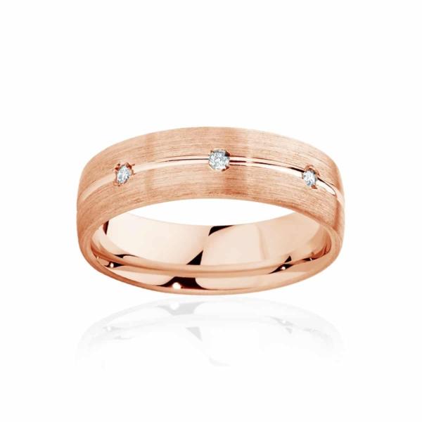 Mens Rose Gold Wedding Ring|Apollo