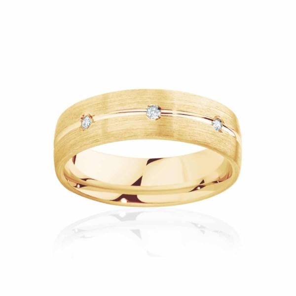 Mens Yellow Gold Wedding Ring|Apollo