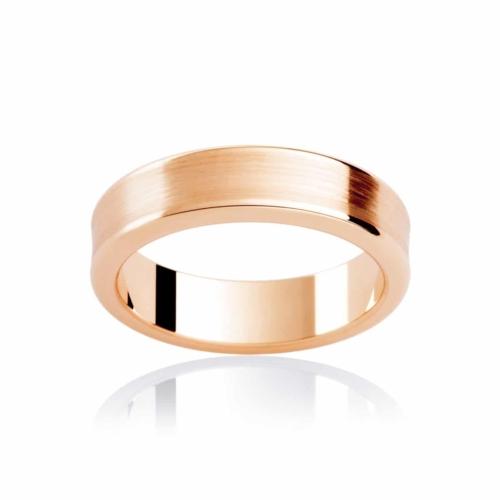 Mens Rose Gold Wedding Ring Atlas