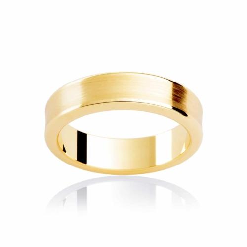 Mens Yellow Gold Wedding Ring|Atlas