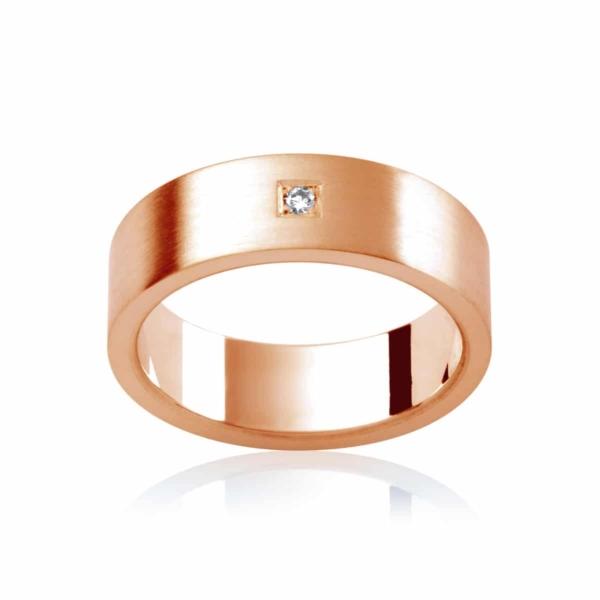 Mens Rose Gold Wedding Ring|Berkshire