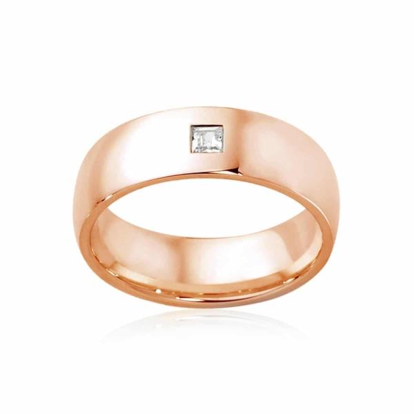 Mens Rose Gold Wedding Ring|Bordeaux