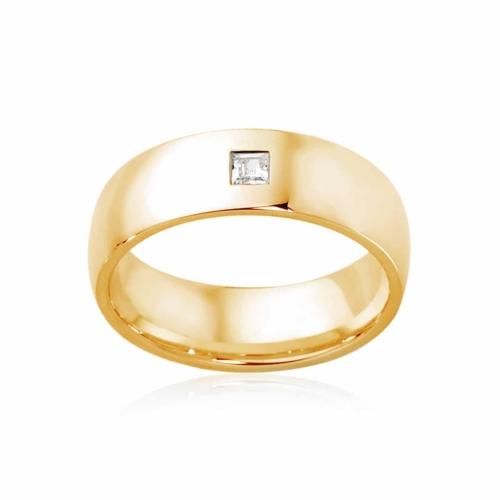 Mens Yellow Gold Wedding Ring|Bordeaux