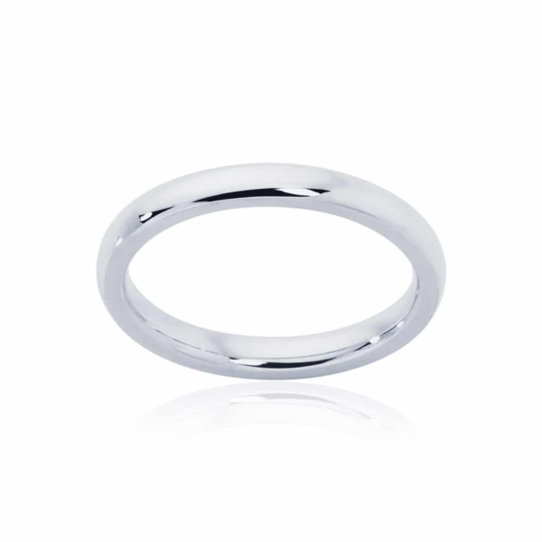 Womens Classic White Gold Wedding Ring|Classical Fine
