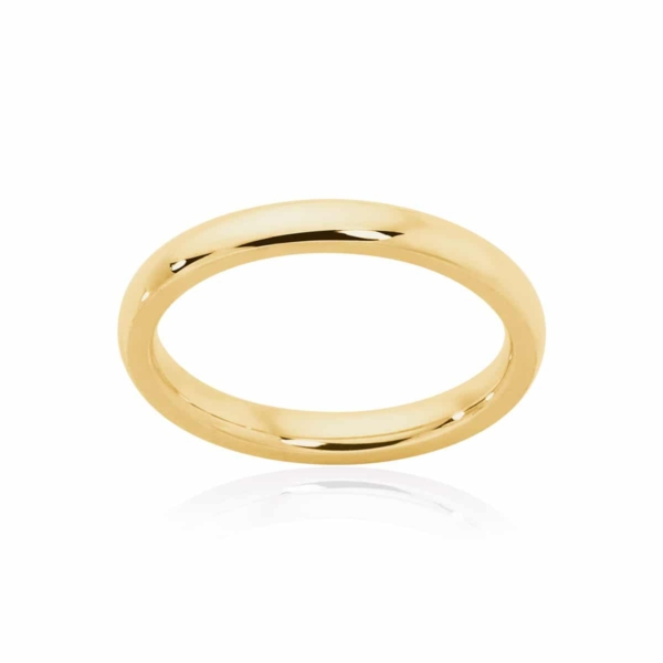 Womens Classic Yellow Gold Wedding Ring Classical Fine