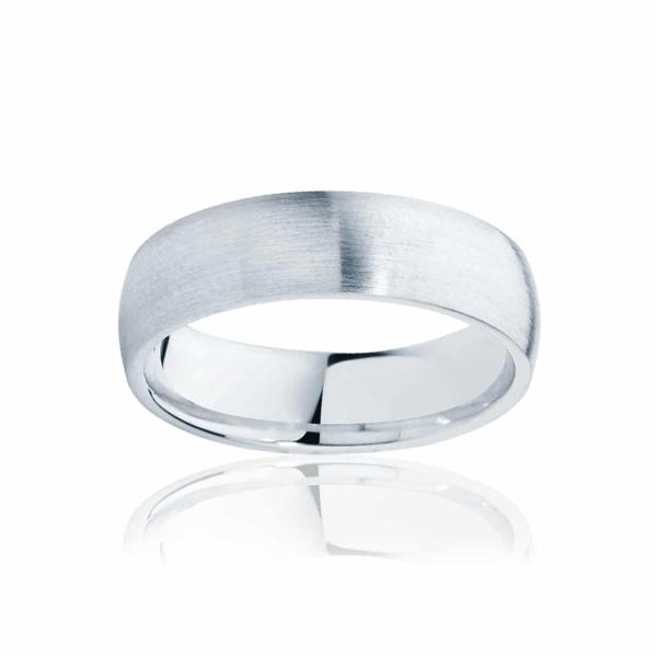 Mens Classic Platinum Wedding Ring|Classical Matte