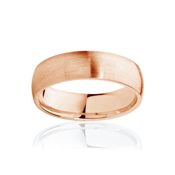 Mens Classic Rose Gold Wedding Ring|Classical Matte