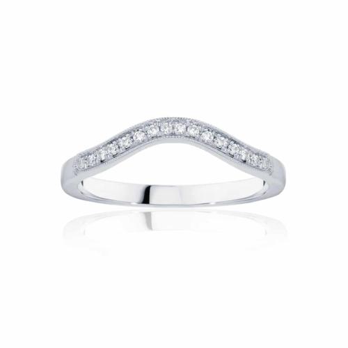Womens Contoured Vintage Platinum Wedding Ring|Curve