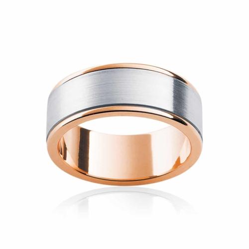 Mens Two Tone Rose Gold Wedding Ring Dallas