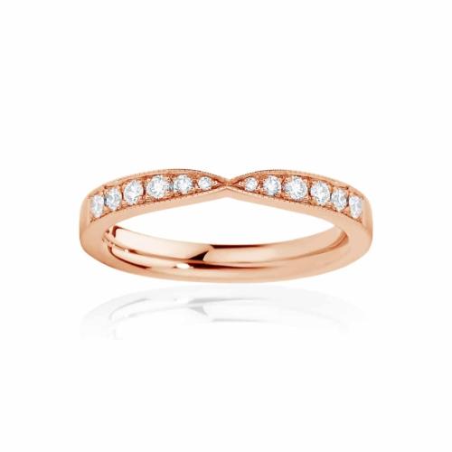 Womens Rose Gold Wedding Ring|Darling