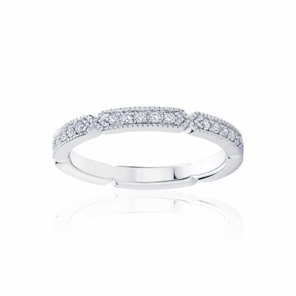 Womens White Gold Wedding Ring|Deco Infinity