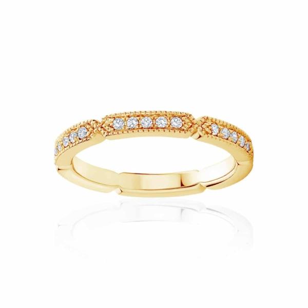 Womens Yellow Gold Wedding Ring|Deco Infinity