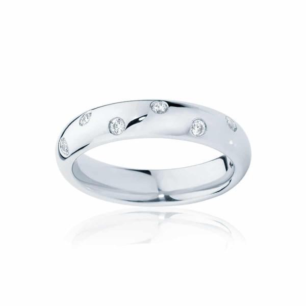 Womens White Gold Wedding Ring|Dew Drop