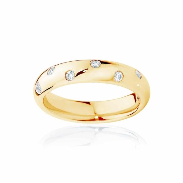 Womens Yellow Gold Wedding Ring|Dew Drop