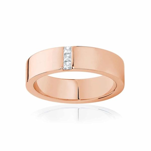Mens Rose Gold Wedding Ring|Duxton
