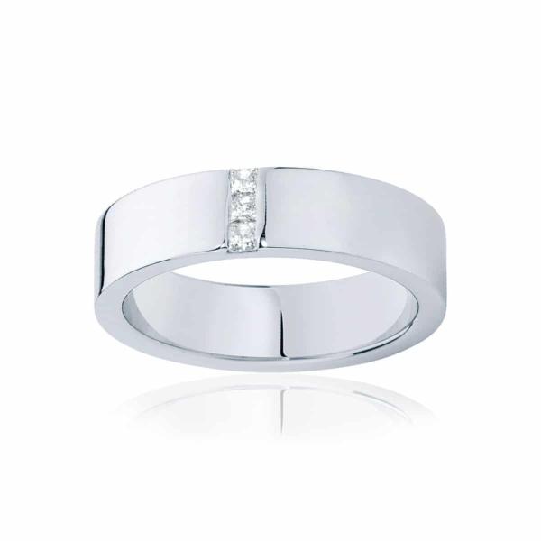 Mens White Gold Wedding Ring|Duxton