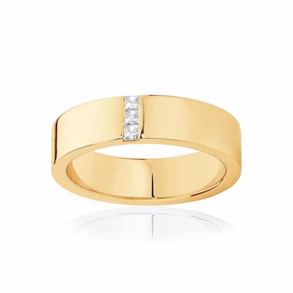 Mens Yellow Gold Wedding Ring|Duxton