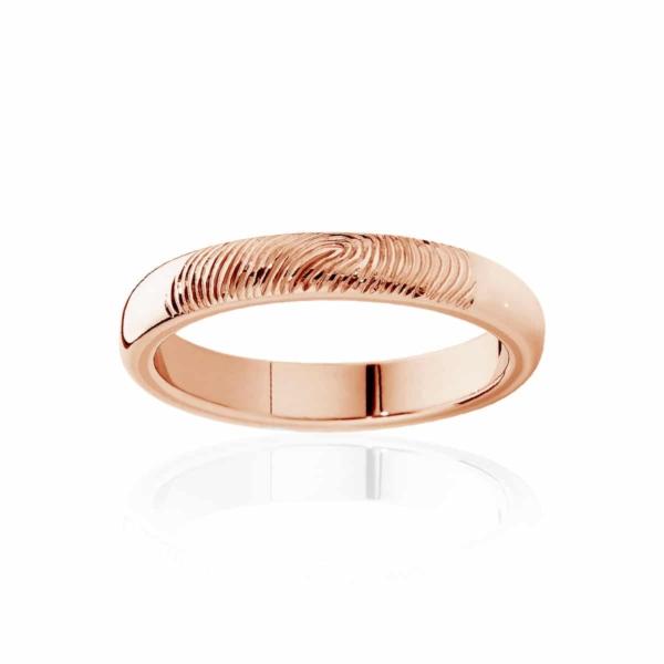 Womens Rose Gold Wedding Ring|Fine Fingerprint