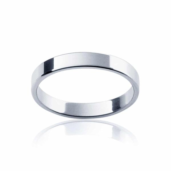 Womens Classic White Gold Wedding Ring|Fine Neo