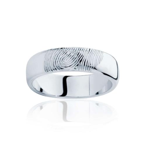 Mens Platinum Wedding Ring|Fingerprint