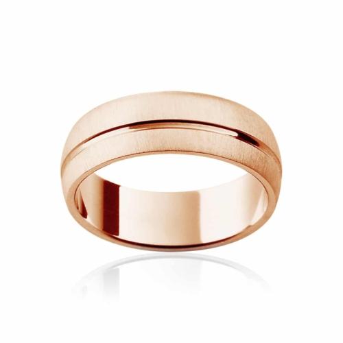 Mens Rose Gold Wedding Ring Fjord