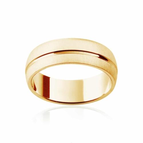 Mens Yellow Gold Wedding Ring Fjord