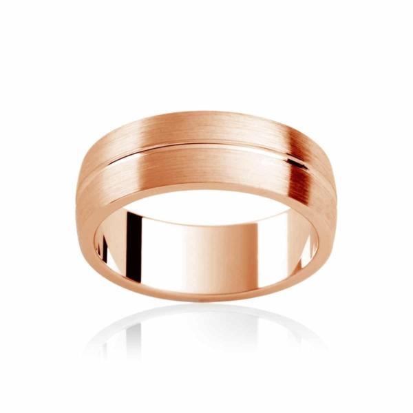 Mens Rose Gold Wedding Ring|Grange