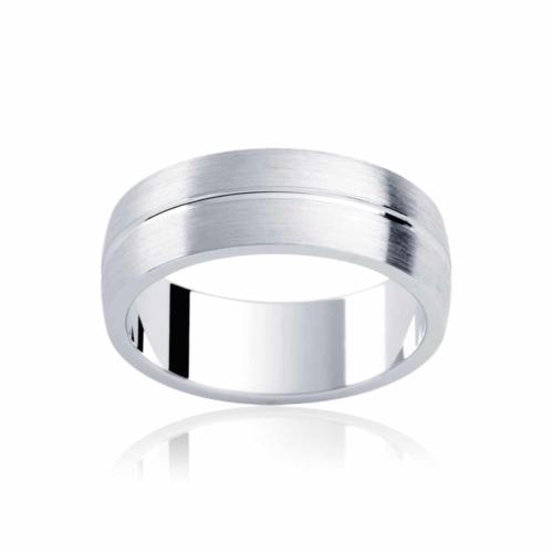 Mens White Gold Wedding Ring Grange
