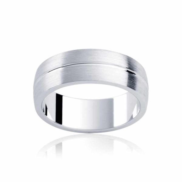 Mens White Gold Wedding Ring|Grange