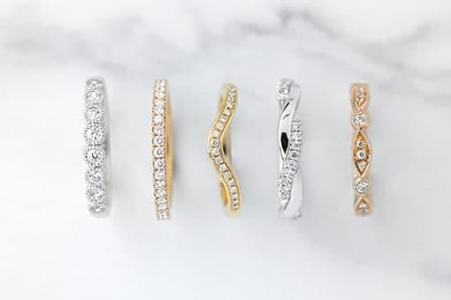 Five unique wedding rings designed by Larsen jewellery