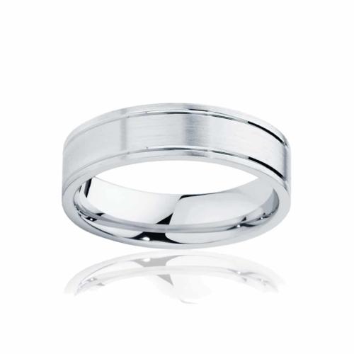 Mens Platinum Wedding Ring Huxley Matte