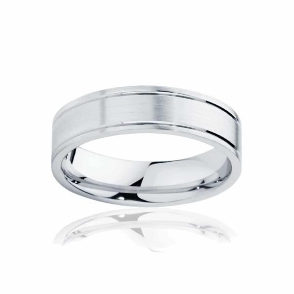 Mens Platinum Wedding Ring|Huxley Matte