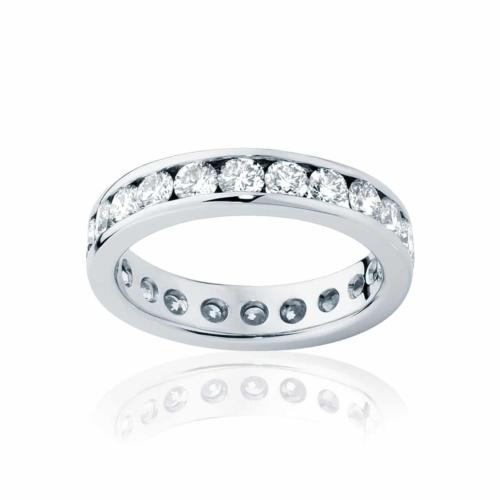 Womens Platinum Wedding Ring|Infinity Channel