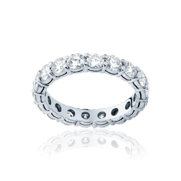 Womens Platinum Wedding Ring Infinity Claw Set