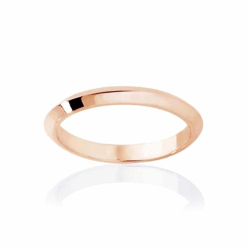 Womens Classic Rose Gold Wedding Ring Knife Edge