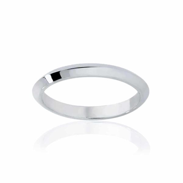 Womens Classic White Gold Wedding Ring|Knife Edge