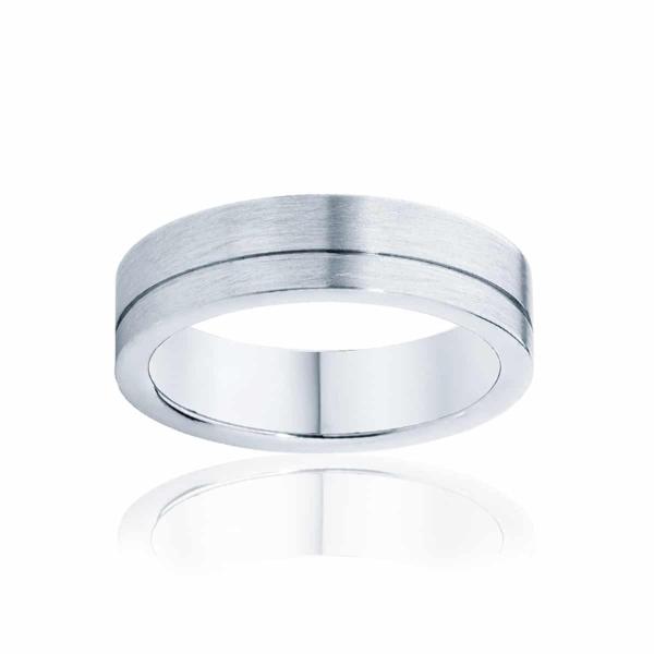 Mens White Gold Wedding Ring|Magnus