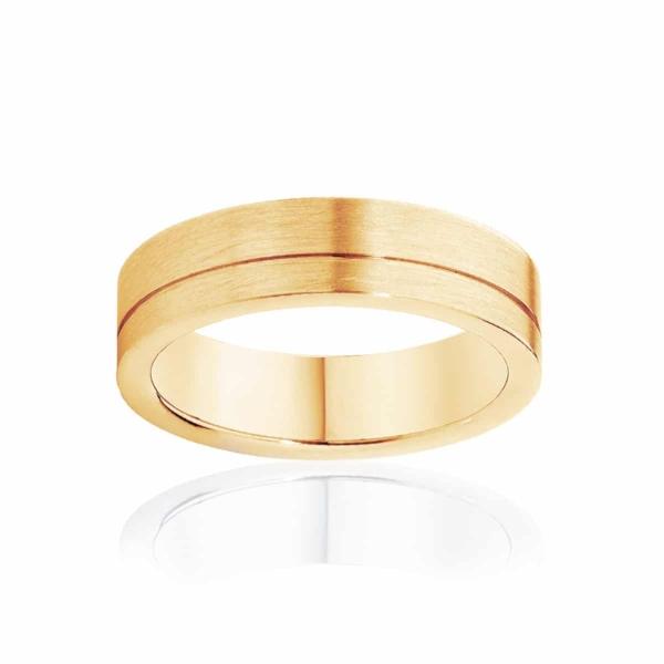 Mens Yellow Gold Wedding Ring Magnus