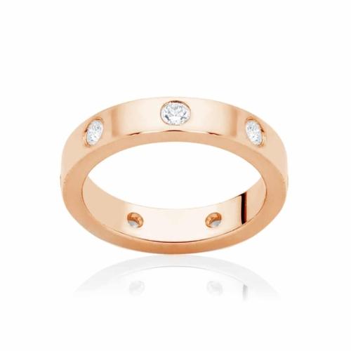Womens Rose Gold Wedding Ring Marseille