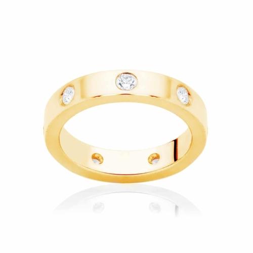 Womens Yellow Gold Wedding Ring Marseille