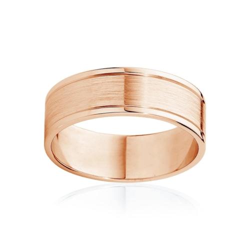 Mens Two Tone Rose Gold Wedding Ring|Milton