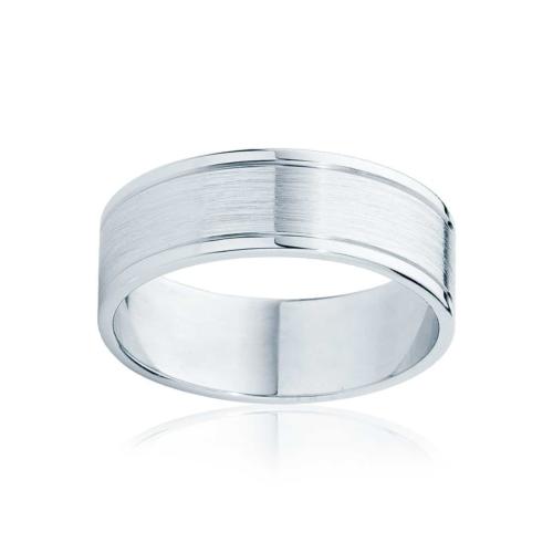 Mens Two Tone White Gold Wedding Ring Milton