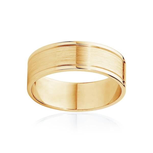 Mens Two Tone Yellow Gold Wedding Ring|Milton