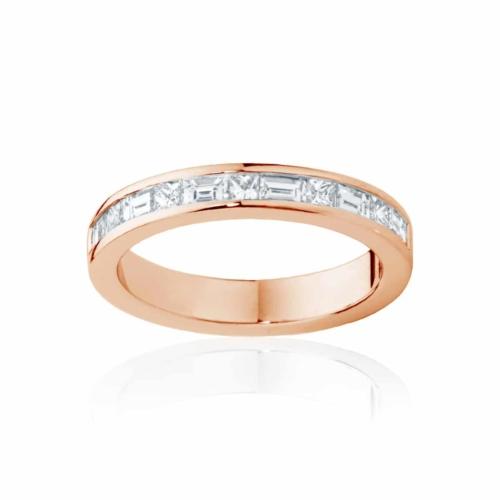Womens Rose Gold Wedding Ring Mosaic