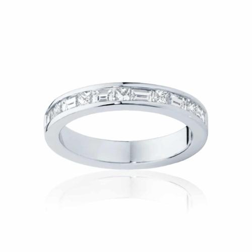 Womens White Gold Wedding Ring|Mosaic