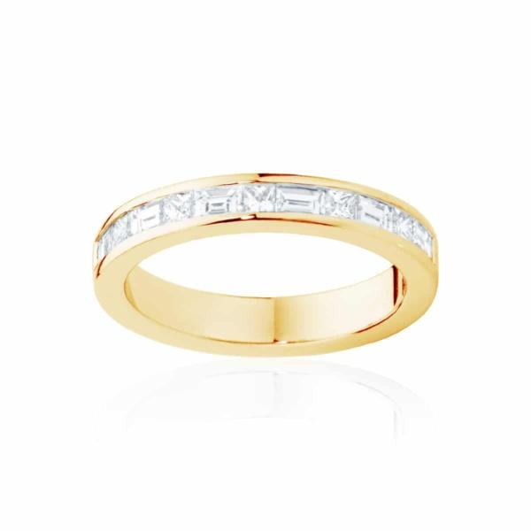 Womens Yellow Gold Wedding Ring|Mosaic