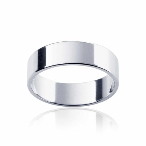 Mens Classic Platinum Wedding Ring Neo