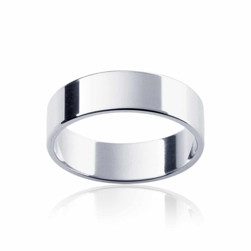 Mens Classic White Gold Wedding Ring|Neo